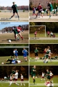 The flying soccer player in the bottom photo? That's my daughter!
