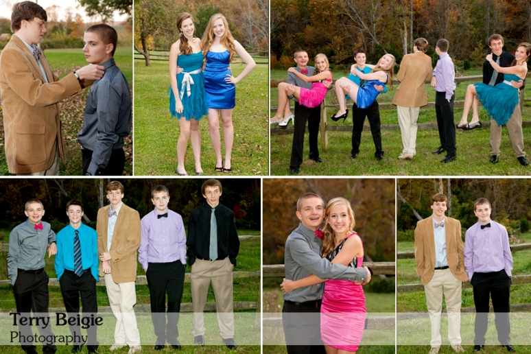 Group homecoming photos