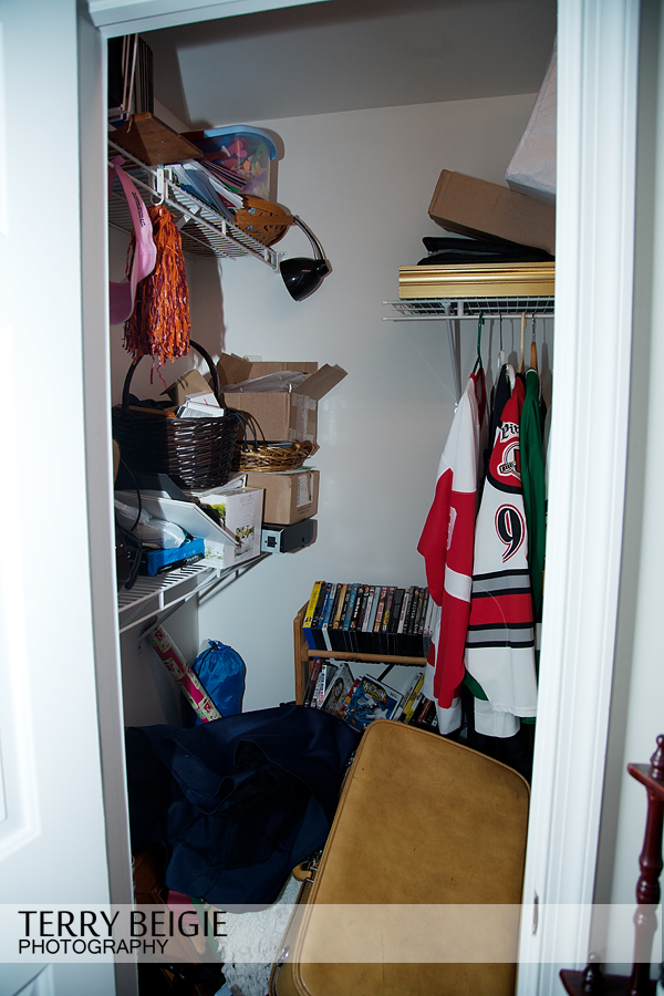 I stored my props in this closet with a bunch of other stuff