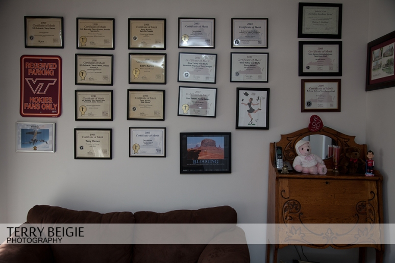 Kept my wall of honor but moved the couch beneath it.