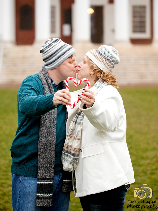 Couple with candy canes