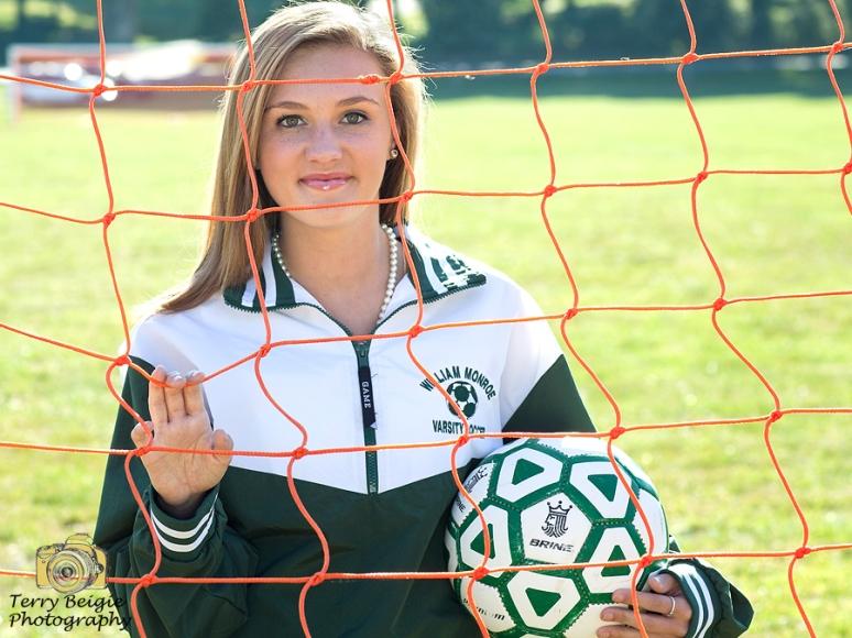 soccer girl high school senior