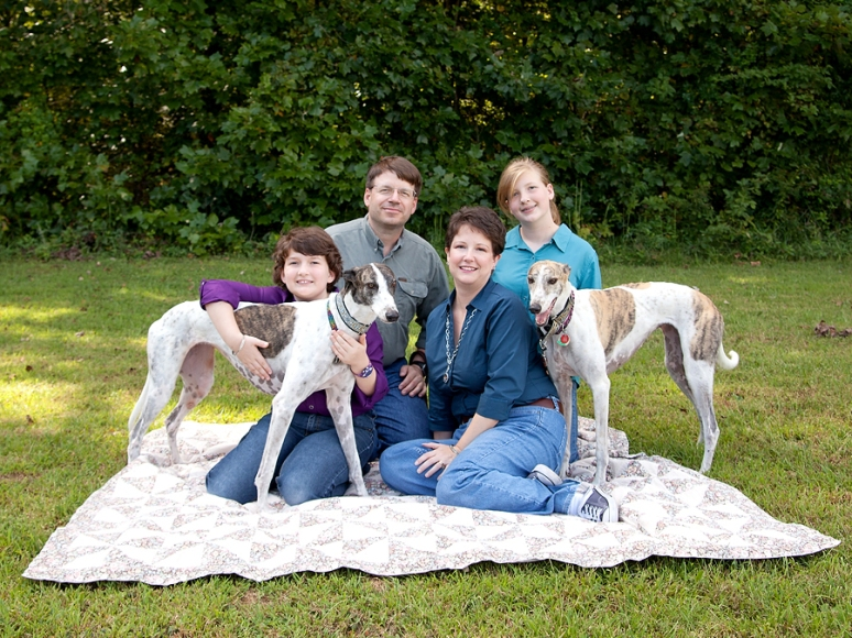 Family with their dogs