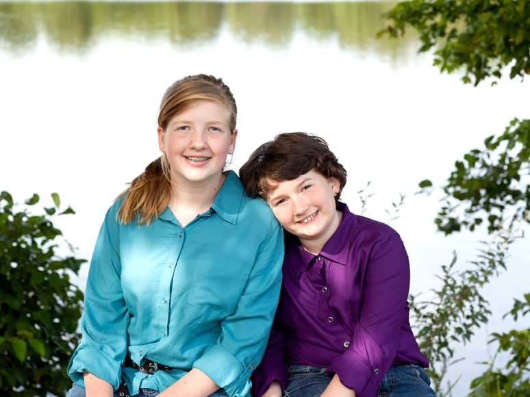 Sisters by the lake