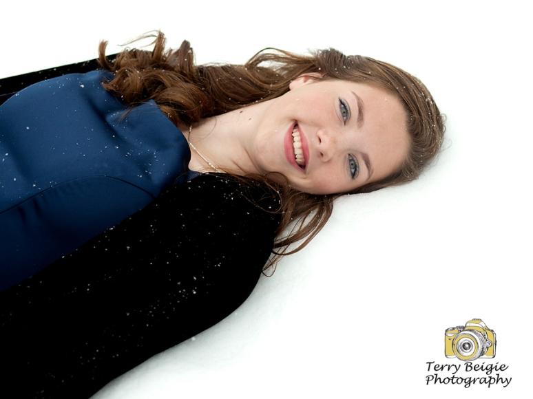 teen girl snow portrait