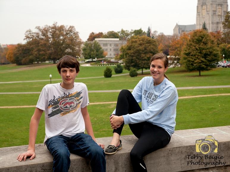 Kids on Drillfield at Virginia Tech