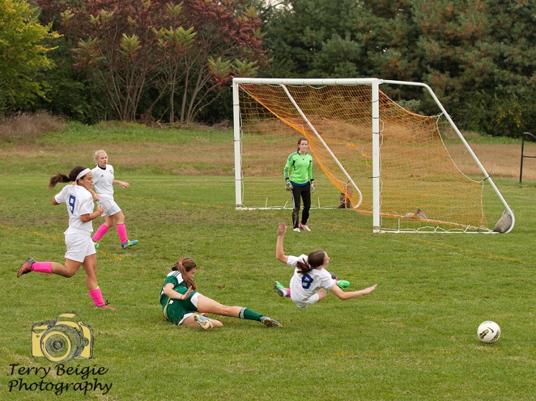 soccer girl slide tackle