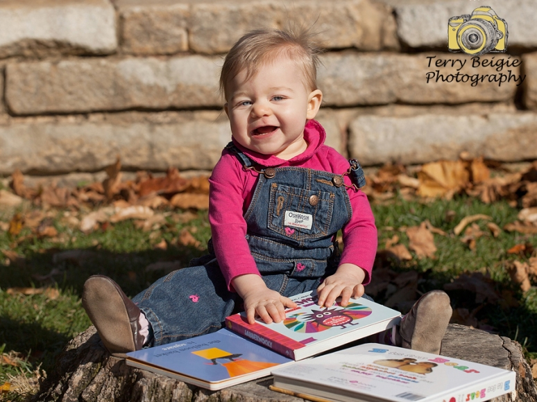 Outdoors 1 year old shoot