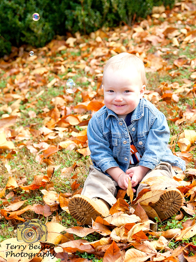 Enjoying the autumn leaves