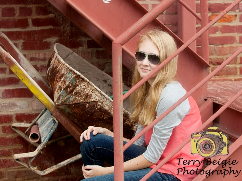 Skater girl teen photoshoot downtown Charlottesville Virginia