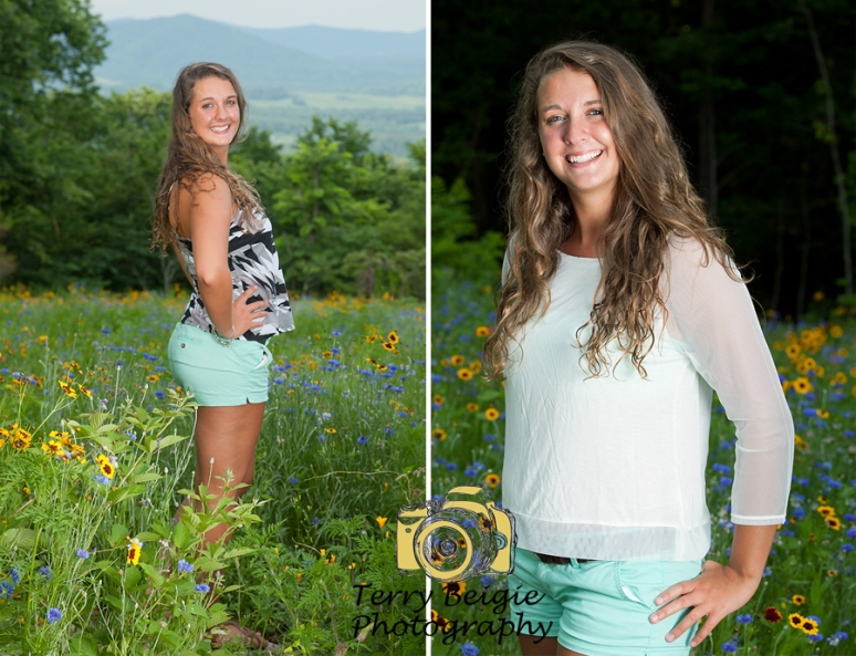 Wildflowers Central Virginia Senior Photographer