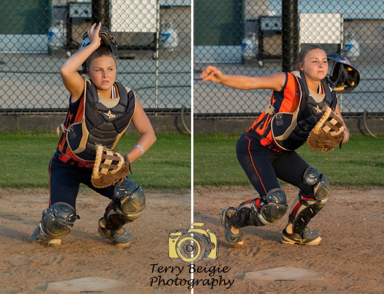 Charlottesville portrait photographer softball girl