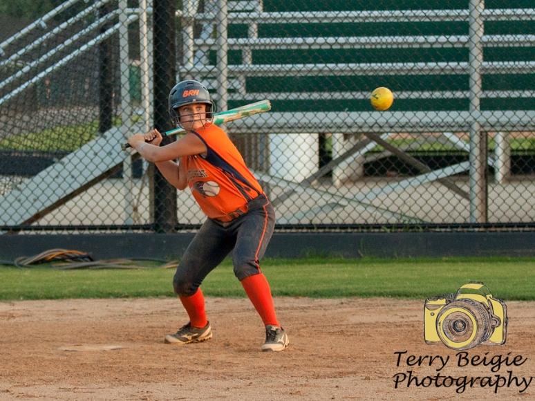 Charlottesville portrait photographer softball girl