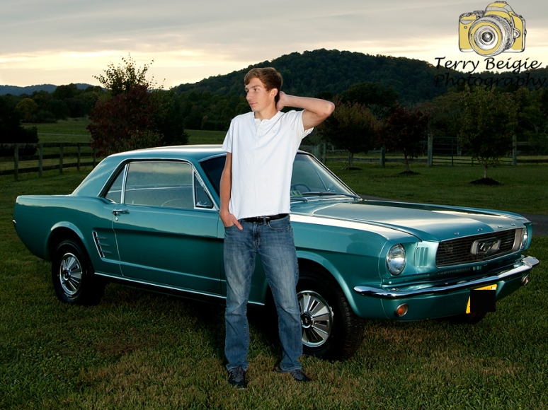 High School Senior and his car