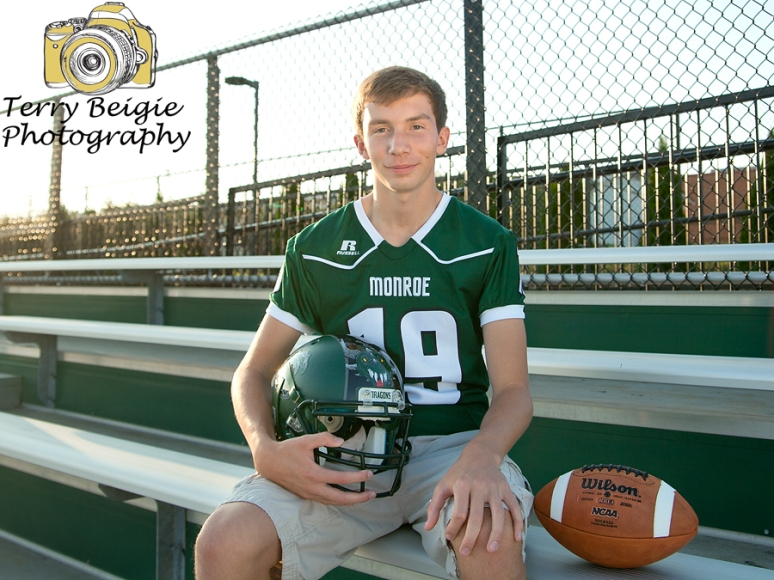 High School Senior Photographer Greene Virginia football team