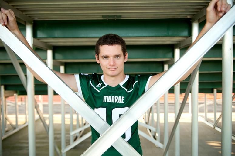 Rural Virginia high school senior photography charlottesville ruckersville stanardsville football