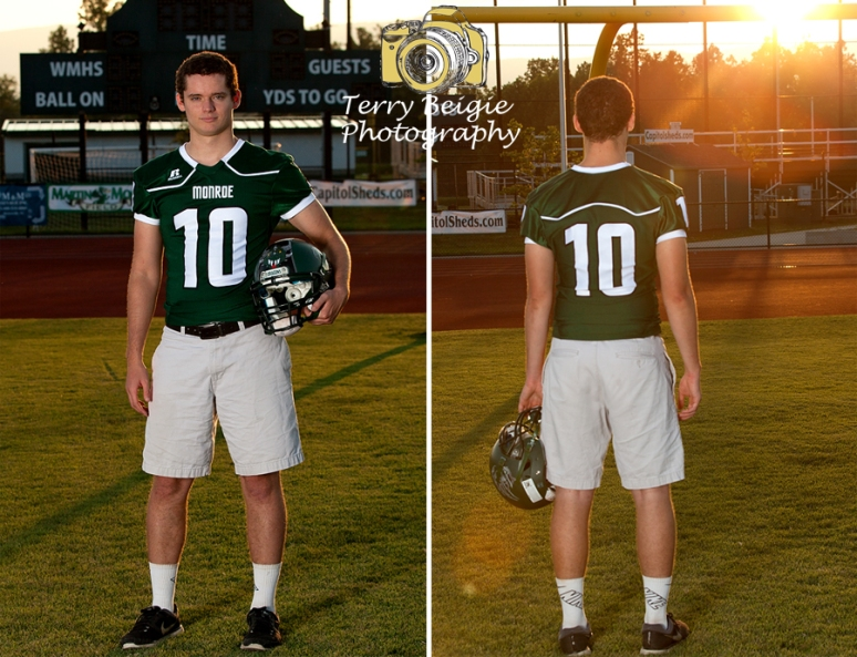 Rural Virginia high school senior photography charlottesville ruckersville stanardsville football