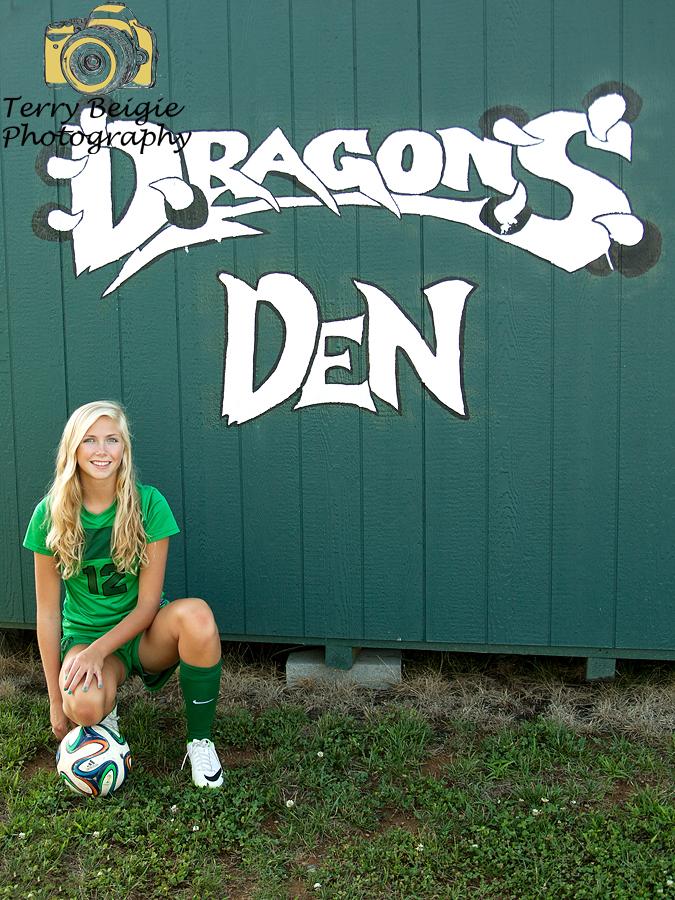 Charlottesville high school senior photography soccer girl