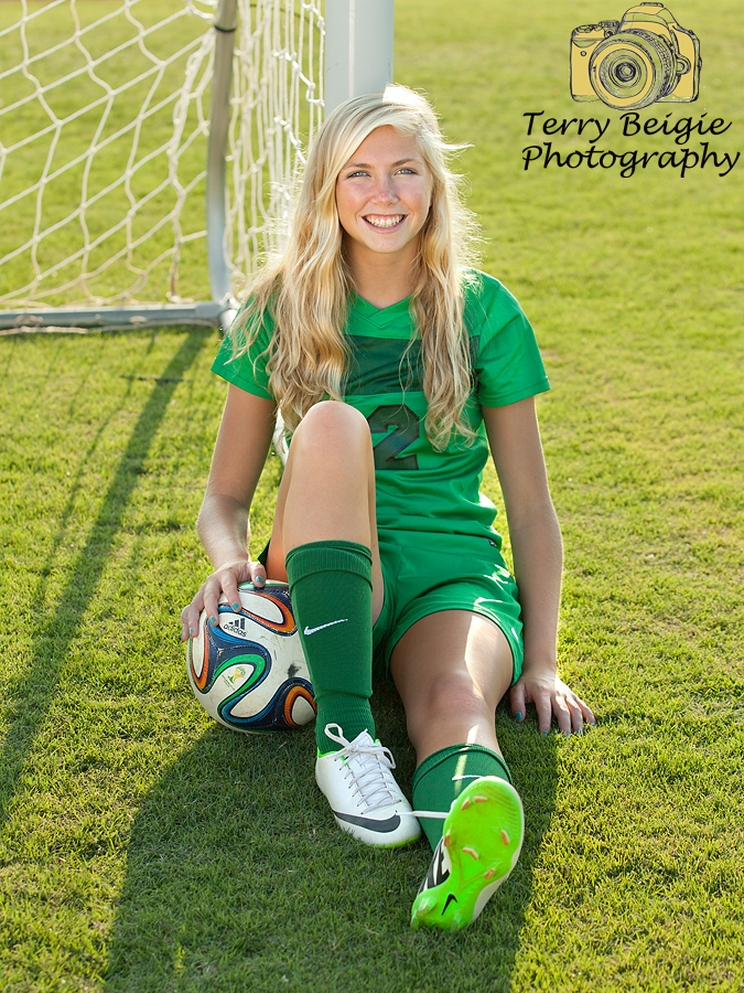 Charlottesville high school senior photography soccer girl