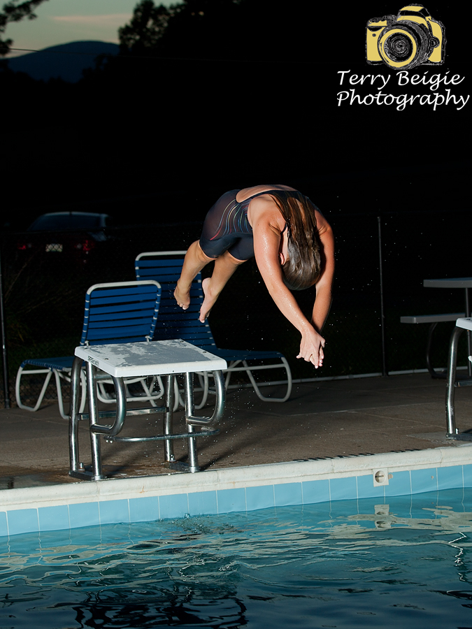 Stanardsville Virginia high school senior photography swim team